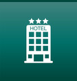 hotel icon on green background simple flat vector image vector image