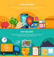internet commerce composition set vector image vector image
