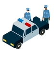 isometric of two policemen drinking vector image vector image