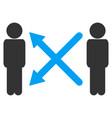 men exchange arrows icon vector image vector image