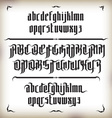 Modern Gothic Font vector image vector image