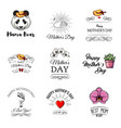 mothers day labels set vector image vector image