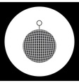 music disco ball black simple isolated icon eps10 vector image vector image
