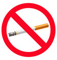 no smoking sign stop vector image vector image