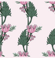 pink tulips seamless pattern vector image