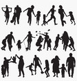 playing outside silhouettes vector image vector image