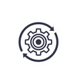production cycle icon with cogwheel vector image
