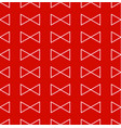 red triangle ribbon seamless pattern vector image