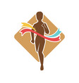 running competition silhouette man on background vector image vector image