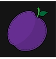 seam violet plum with shadow vector image vector image