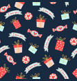 seamless pattern for valentines day with cute vector image