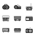 secular icons set simple style vector image vector image
