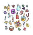 set of colorful aromatic items vector image vector image