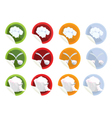 Set of stickers with chef hat vector image