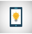 smartphone digital with idea bulb design isolated vector image vector image