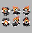 soccerball logo and badge set image vector image