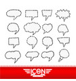 speech bubble hand drawn design vector image