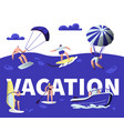 summer vacation water sport activity banner vector image vector image