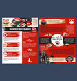 sushi bar and japanese seafood restaurant poster vector image vector image