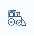Toy train sketch icon vector image vector image