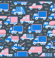 transportation seamless pattern with different vector image vector image