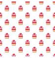wedding cake pattern seamless vector image vector image