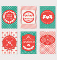 wedding invitation cards set vector image