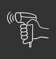 Wireless barcode scanning chalk icon