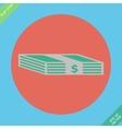 Web icon bundle of bank notes money hard cash vector image
