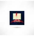Club book in the square vector image