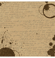 coffee rings on manuscript background vector image