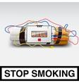 Stop smoking - cigarette bomb vector image