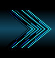 abstract blue arrow light technology direction vector image vector image