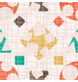 abstract print textile with geometric shapes vector image vector image