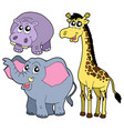 african animals collection vector image vector image