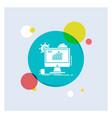 analytics chart seo web setting white glyph icon vector image vector image