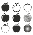 Apple icon set vector image vector image
