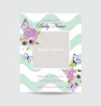 baby shower invitation template with photo frame vector image