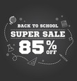 back to school sale design vector image vector image
