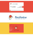 beautiful santa clause logo and business card vector image vector image