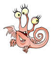 cartoon fictional character winged three eyed vector image vector image