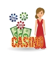 Casino design Person and Game icon Isolated vector image