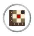 Checkers icon in pattern