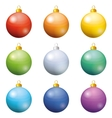 Christmas decoration set balls vector image