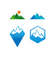 collection of mountain logo icon template vector image