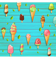 colorful pattern made ice cream vector image vector image