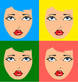 Comic pop art vector image vector image