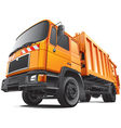 compact garbage truck vector image vector image