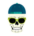 cool skull cartoon vector image vector image