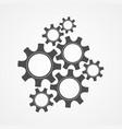 development concept black contour gear and cog vector image